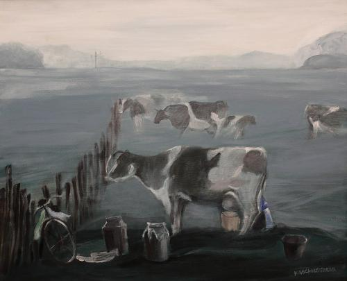 Krowy we mgle