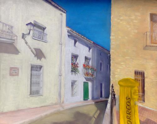 Hiszpańska uliczka w smugę cienia