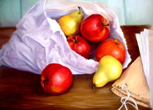 Jabłka w papierowej tutce